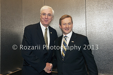 Ambassador Michael Collins and Taoiseach Enda Kenny